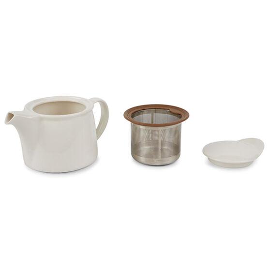 Kinto white porcelain brim teapot