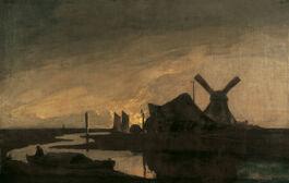 John Crome: Moonrise on the Yare