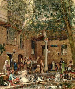 Lewis: Courtyard of the Coptic Patriarch's House
