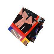 Maxi print silk neck scarf detail