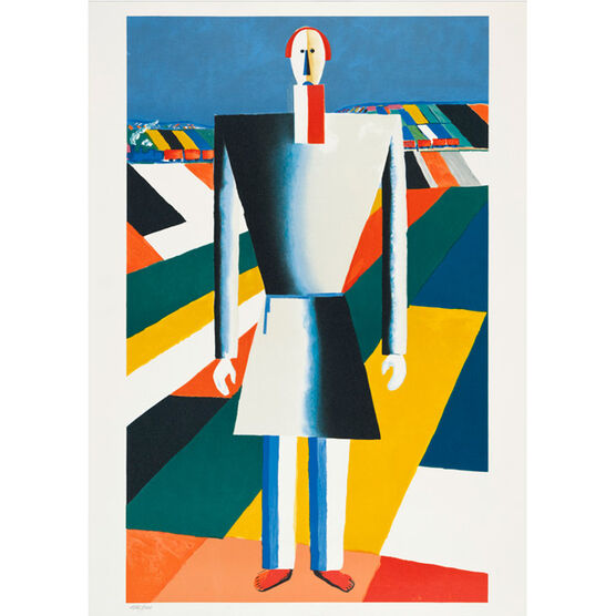Atelier Mourlot Malevich Peasant (1992 lithograph)