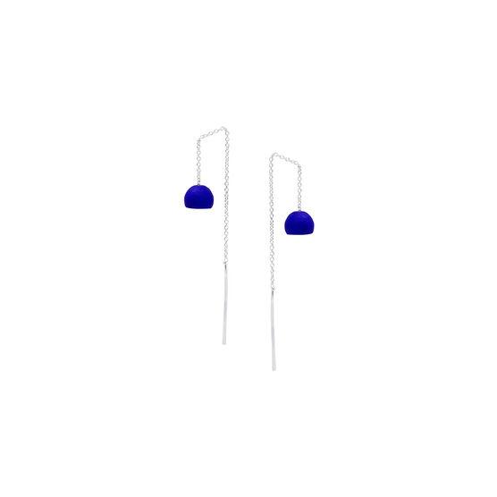 Bauhaus Ball blue 3D printed earrings
