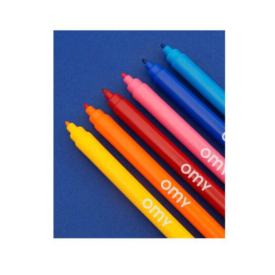 Box of 16 washable felt pens