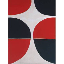 Sir Terry Frost: June, Red and Black mini print