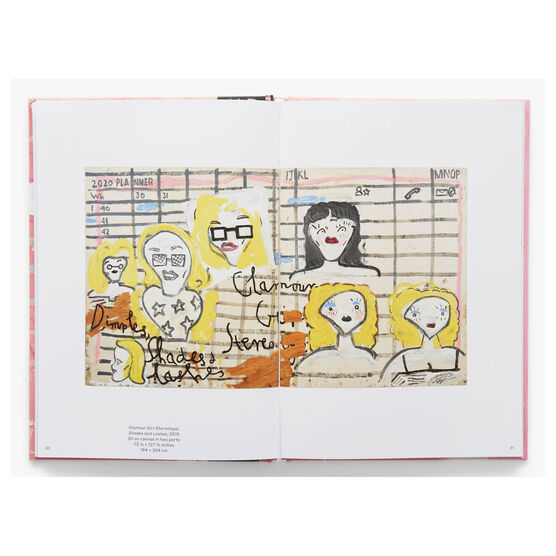 Rose Wylie: Painting a Noun book inside spread