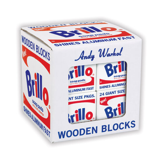Andy Warhol Brillo Pads wooden block set