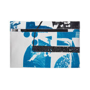 Laura Slater small teal  leather clutch bag