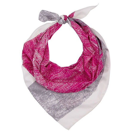 Grey & pink silk scarf
