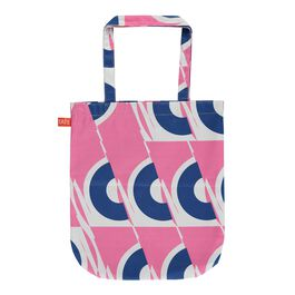 Laura Spring pink and blue circle tote bag