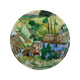 Van Gogh Farms near Auvers circular tray