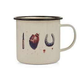 I Love U enamel mug