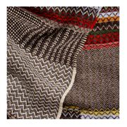 Triangle pattern wool scarf