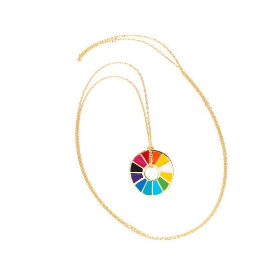 Colour wheel pendant necklace
