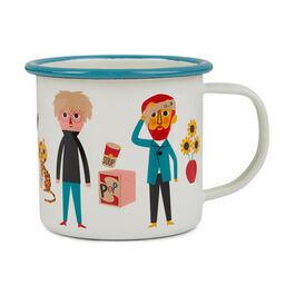 Modern artists enamel mug