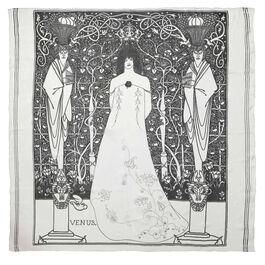 Aubrey Beardsley Venus between Terminal Gods silk scarf