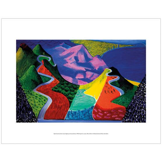 David Hockney Pacific Coast Highway and Santa Monica (mini print)
