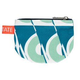 Laura Spring green and blue circle purse