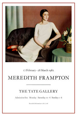Meredith Frampton exhibition poster