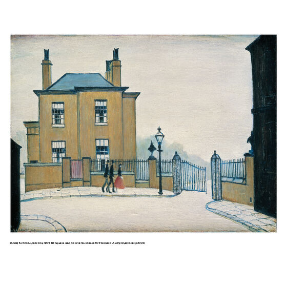 Lowry The Old House (mini print)