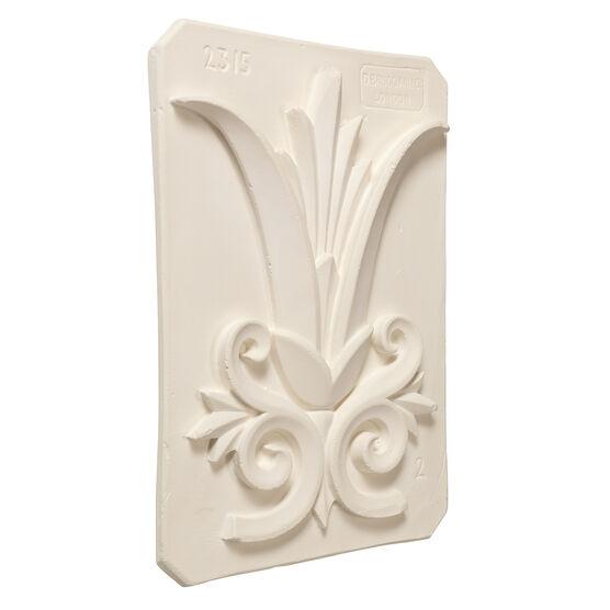 Decorative palm plaster cast plaque