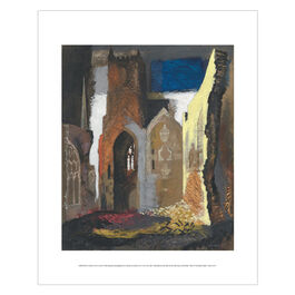 John Piper: St Mary le Port, Bristol mini print