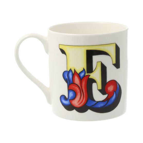 Alphabet of art mug - E