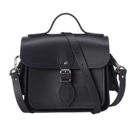 Navy leather Cambridge camera bag