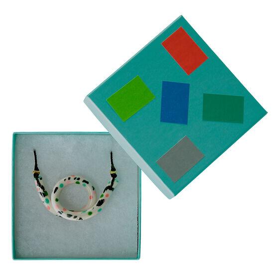 Ceramic Peony loop necklace