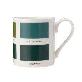 The Colours of London green mug