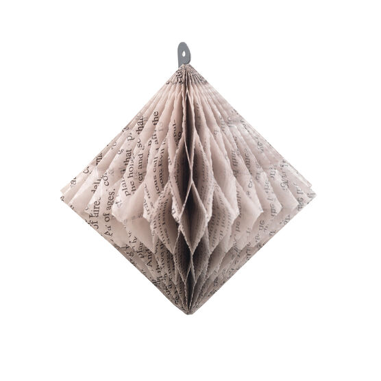 William Blake diamond-shaped paper ornaments
