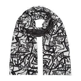 Patrick Heron Monochrome silk scarf