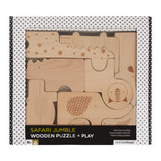 Safari wooden animal blocks