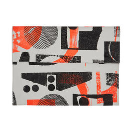 Laura Slater large neon leather clutch bag