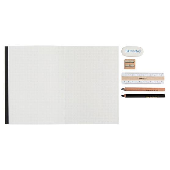 Black notebook and stationery set
