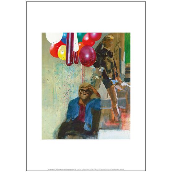 Peter Blake Portrait of David Hockney (unframed print)