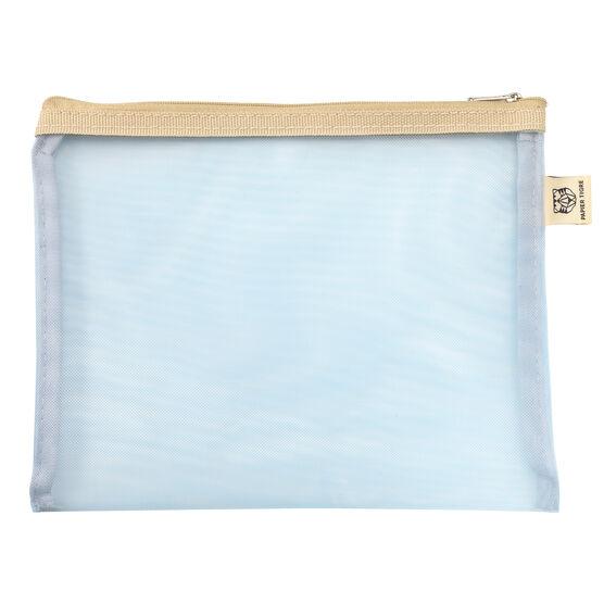Light blue mesh pouch