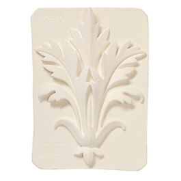 Decorative acanthus plaster cast plaque