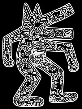 Keith Haring: Dog on Black