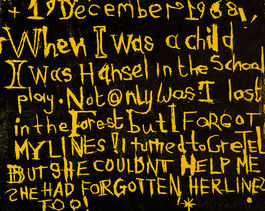 Bob and Roberta Smith: I was Hansel in the School Play
