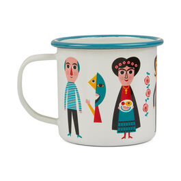 Modern artists enamel mug