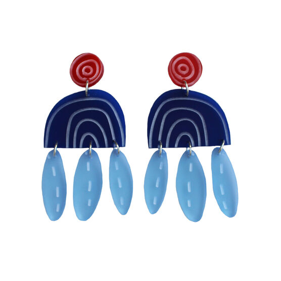 Swing blue earrings
