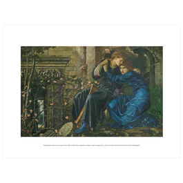 Edward Burne-Jones: Love among the Ruins exhibition print