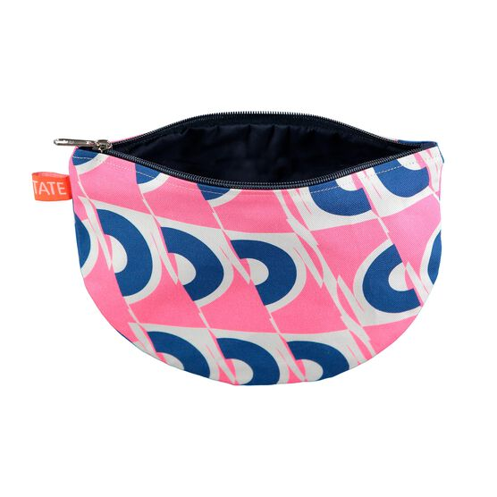 Laura Spring pink and blue circle pouch