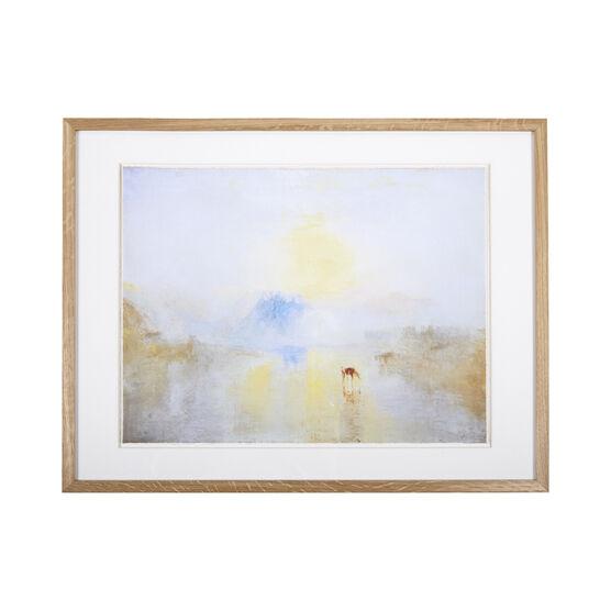 JMW Turner Norham Castle, Sunrise (framed print)