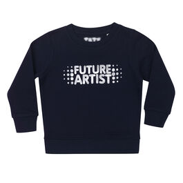 Navy Kids' sweatshirt with Future artist chest graphic - front