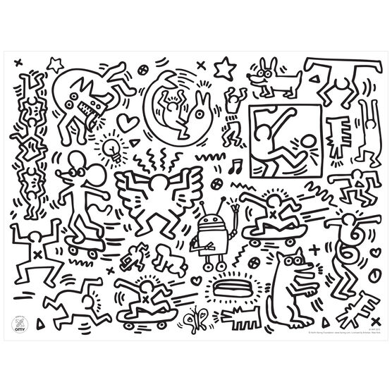 Free Keith Haring Coloring Pages, Download Free Clip Art, Free ... | 556x556