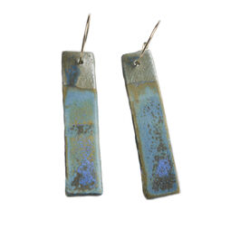 Seascape ceramic earrings