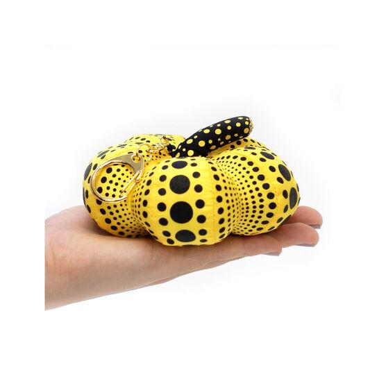 Yayoi Kusama soft sculpture pumpkin keyring