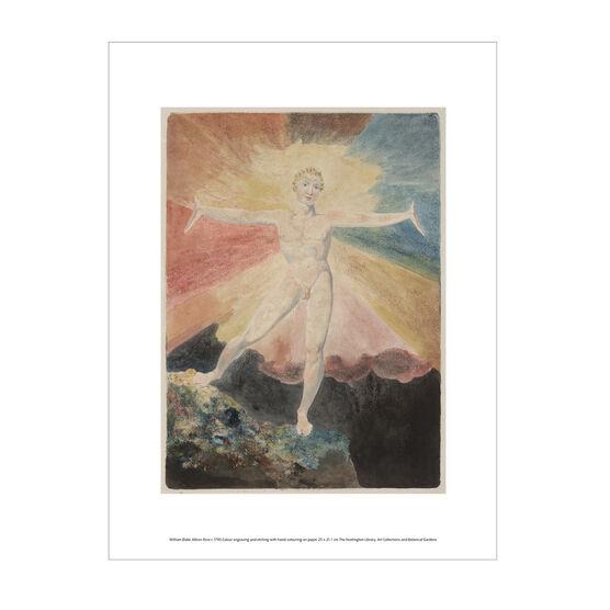 William Blake Albion Rose exhibition print