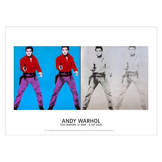 Andy Warhol: Elvis I and II exhibition poster